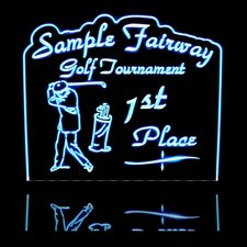 Golf Trophy SAMPLE ONLY (Design not for Sale) Acrylic Lighted Edge Lit LED Sign / Light Up Plaque