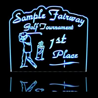 acrylic golf sign lit lighted trophies led edge sample only trophy light custom plaque signs valleydesignsnd form quote stairs fire