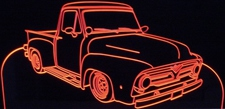 1955 Ford Pickup Truck F100 Acrylic Lighted Edge Lit LED Sign / Light Up Plaque
