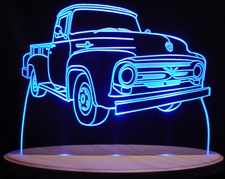 1956 Ford Pickup Truck F250 Acrylic Lighted Edge Lit LED Sign / Light Up Plaque