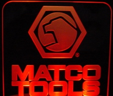 Matco Tools Business Logo Acrylic Lighted Edge Lit LED Sign / Light Up Plaque