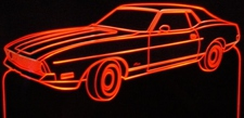 1972 Mustang Sprint Acrylic Lighted Edge Lit LED Car Sign / Light Up Plaque
