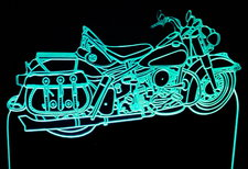 1960 Panhead Motorcycle Acrylic Lighted Edge Lit LED Bike Sign / Light Up Plaque