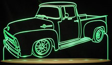1956 Ford Pickup F100 Truck Acrylic Lighted Edge Lit LED Sign / Light Up Plaque