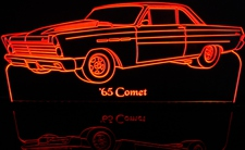 1965 Mercury Comet Acrylic Lighted Edge Lit LED Car Sign / Light Up Plaque