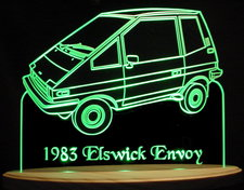 1983 Elswick Envoy Acrylic Lighted Edge Lit LED Car Sign / Light Up Plaque