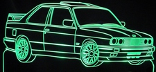1988 BMW M3 E30 Acrylic Lighted Edge Lit LED Car Sign / Light Up Plaque 1989 1990