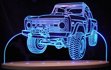 1970 Bronco Acrylic Lighted Edge Lit LED Sign / Light Up Plaque Ford