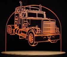1998 IHC 9300 International Harvester Semi Truck Acrylic Lighted Edge Lit LED Sign / Light Up Plaque