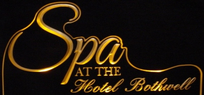 Spa Hotel Bothwell Business Advertising Logo Acrylic Lighted Edge Lit LED Sign / Light Up Plaque