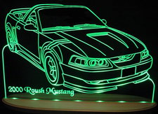 2000 Mustang Ford Roush Acrylic Lighted Edge Lit LED Car Sign / Light Up Plaque
