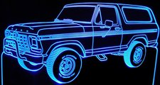 1978 Bronco Acrylic Lighted Edge Lit LED Sign / Light Up Plaque Ford