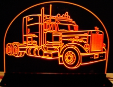 Peterbilt RH Pass side Acrylic Lighted Edge Lit LED Sign / Light Up Plaque