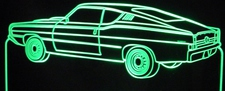 1968 Torino LR Acrylic Lighted Edge Lit LED Sign / Light Up Plaque Ford Full Size Made in USA