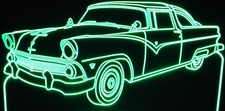 1955 Ford Crown Victoria Acrylic Lighted Edge Lit LED Sign / Light Up Plaque Full Size Made in USA