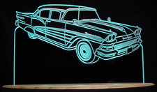 1958 Fairlane Acrylic Lighted Edge Lit LED Sign / Light Up Plaque Ford Full Size Made in USA