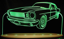 1964 1/2 1964.5 Mustang Coupe Acrylic Lighted Edge Lit LED Sign / Light Up Plaque Full Size Made in USA