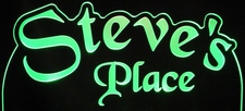 Steves Place Room Den Office You Name It Acrylic Lighted Edge Lit LED Sign / Light Up Plaque