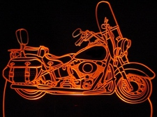 2009 Softail Classic Motorcycle Acrylic Lighted Edge Lit LED Bike Sign / Light Up Plaque