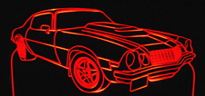 1974 Chevy Camaro Acrylic Lighted Edge Lit LED Car Sign / Light Up Plaque Chevrolet