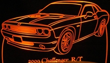 2009 Challenger RT Acrylic Lighted Edge Lit LED Sign / Light Up Plaque Full Size Made in USA