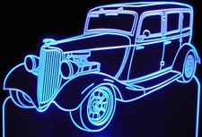 1933 Ford Acrylic Lighted Edge Lit LED Car Sign / Light Up Plaque