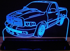 2004 Dodge Ram 1500 SRT10 Acrylic Lighted Edge Lit LED Sign / Light Up Plaque Full Size Made in USA