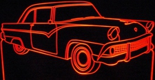 1955 Ford Fairlane Acrylic Lighted Edge Lit LED Car Sign / Light Up Plaque