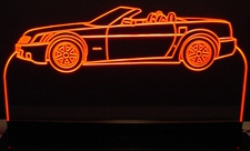 2007 Cadillac XLR Convertible Acrylic Lighted Edge Lit LED Car Sign / Light Up Plaque