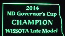 ND Governors Cup SAMPLE Champion Trophy Acrylic Lighted Edge Lit LED Sign / Light Up Plaque