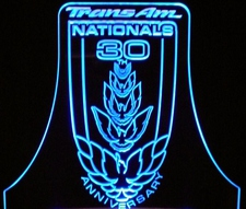 Trans Am Nationals Trophy Acrylic Lighted Edge Lit LED Sign / Light Up Plaque Full Size Made in USA