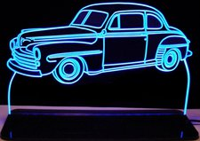 1948 Coupe Sedan 2 door Acrylic Lighted Edge Lit LED Sign / Light Up Plaque Full Size Made in USA