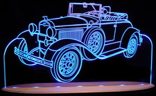 1931 Model A Roadster Acrylic Lighted Edge Lit LED Car Sign / Light Up Plaque