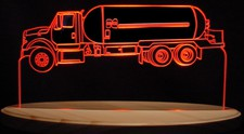 Semi Gas Truck Acrylic Lighted Edge Lid Led Truck Sign / Light Up Plaque