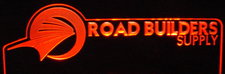 Road Builders SAMPLE Business Logo Advertising Acrylic Lighted Edge Lit LED Sign / Light Up Plaque
