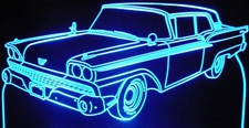 1959 Ford Skyliner Acrylic Lighted Edge Lit LED Car Sign / Light Up Plaque