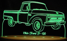 1966 Ford Pickup Truck F100 Acrylic Lighted Edge Lit LED Sign / Light Up Plaque