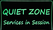 Quiet Zone Acrylic Lighted Edge Lit LED Business Logo Advertising Sign / Light Up Plaque