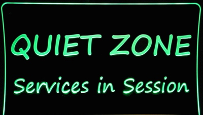 Quiet Zone Acrylic Lighted Edge Lit Led Business Logo