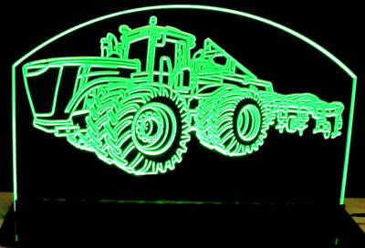 John Deere Race Car >> Tractor 9460R John Deere Acrylic Lighted Edge Lit Led Farm Tractor Sign / Light Up Plaque - Valley