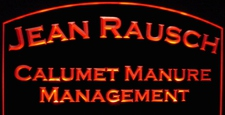 Rausch Business Advertising Logo Desk Sign Acrylic Lighted Edge Lit LED / Light Up Plaque