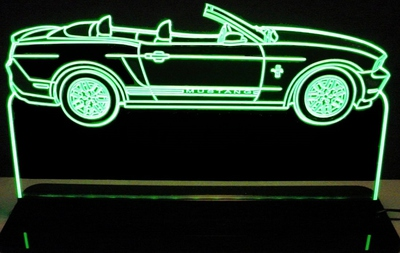 2012 Mustang convertible Acrylic Lighted Edge Lit LED Sign / Light Up Plaque Full Size Made in USA