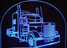 Semi Peterbilt Truck RFC Acrylic Lighted Edge Lit LED Sign / Light Up Plaque Full Size Made in USA