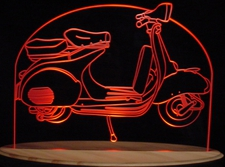 1957 1967 Vespa Scooter Motorbike Acrylic Lighted Edge Lit LED Sign / Light Up Plaque 1958 1959 1960 1961 1962 1963 1964 1965 1966