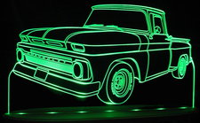 1963 Chevy Pickup Truck Acrylic Lighted Edge Lit LED Sign / Light Up Plaque Chevrolet
