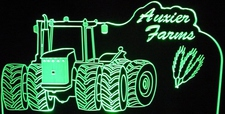 Tractor with Wheat Grain Acrylic Lighted Edge Lit LED Farm Equipment Sign / Light Up Plaque