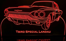 1965 Tbird Landau Acrylic Lighted Edge Lit LED Sign / Light Up Plaque Thunderbird Ford Full Size Made in USA
