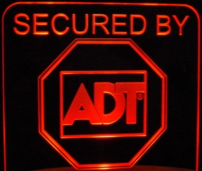 ADT Advertising Business Logo Sign Acrylic Lighted Edge Lit LED Light Up Plaque