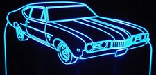 1968 Olds Cutlass S Acrylic Lighted Edge Lit LED Sign / Light Up Plaque Full Size Made in USA