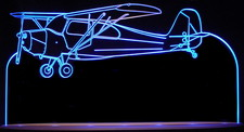 1946 Airplane Plane Acrylic Lighted Edge Lit LED Sign / Light Up Plaque Full Size USA Original